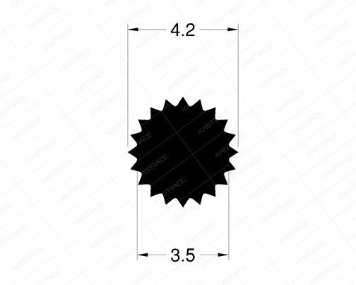 Flyscreen Gasket - 4.2 mm