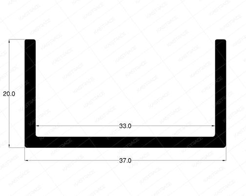 U Profile 37 mm X 20 mm